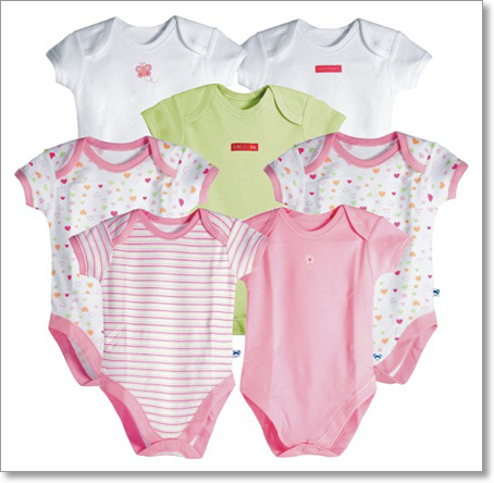 Baby girl eco friendly organic cotton clothes